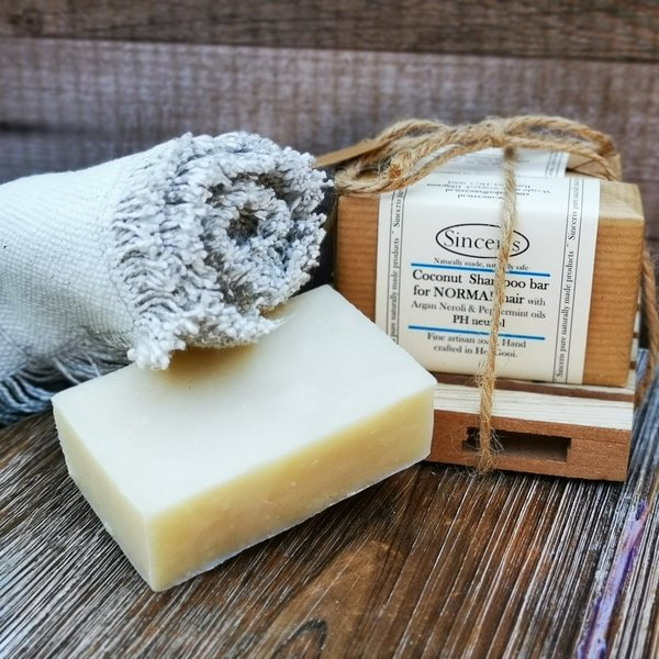 NORMAL Hair Shampoo Bar Coconut & Argan, pH neutral